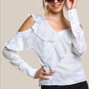COPY - Textured cold shoulder top